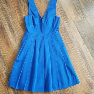 J. Crew royal blue v- neck dress 00